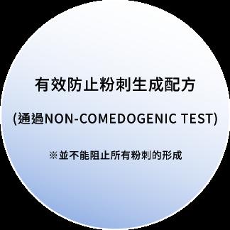 有效防止粉刺生成配方(通過NON-COMEDOGENIC TEST)※並不能阻止所有粉刺的形成